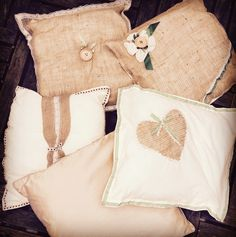 Rustic story cushion
