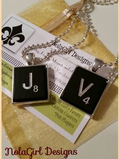 Scrabble Tile Pendant Necklace, Keychain, Black Scrabble Tile, Key Chain, Necklace, Scrabble Jewelry, Birthday gift for teens and tweens