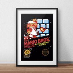 Super Mario Bros NES Box print