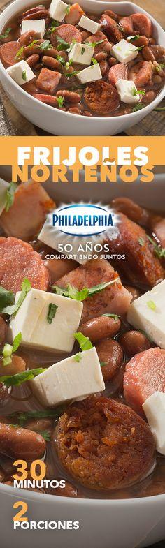 Sabemos que estos Frijoles norteños con tu sazón y Philadelphia quedan el doble de deliciosos.   #recetas #receta #quesophiladelphia #philadelphia #quesocrema #queso #comida #cocinar #cocinamexicana #recetasfáciles #recetasPhiladelphia #recetasdecocina #comer #frijoles #sopa #frijol #comidas #recetafrijoles #salchicha