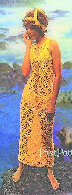 Items similar to Crochet Pattern Vintage Sexy Crochet Dress Pattern Bohemian Clothing Crochet Caftan Dress Crochet Maxi Dress Pattern on Etsy Crochet Summer Dresses, Summer Dress Patterns, Crochet Lace Dress, Lace Maxi, Vintage Crochet Patterns, Caftan Dress, Bikini, Beach Dresses, 70s Fashion