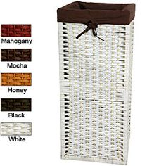 Hampers on pinterest bedding decor baskets and construction - Narrow clothes hamper ...