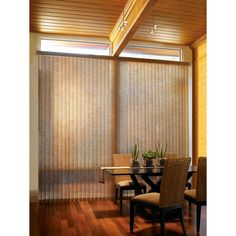 vertical blind for curved surface