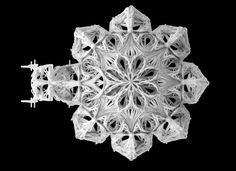 "Top view of ""SENSE OF GOTHIC"". Few days workshop in BARTLETT UCL with Benjamin Dillenburger. This work has been done by FILAMENTRIC - Yiwei Wang, Nanjiang, Yichao Chen, Zeeshan Yunus Ahmed."