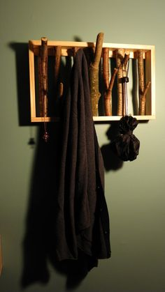 Tree Branch Coat Rack  Made to Order by DistressedOut on Etsy, $35.00- cool!