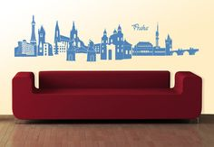 Prague Wall Sticker showing the beautiful skyline of the Czech capital.