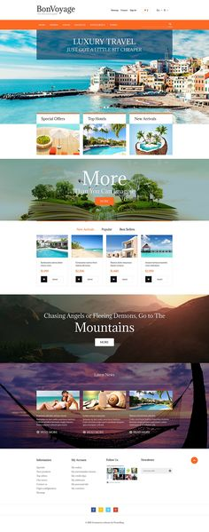 13+ Awesome Travel Agents & Travel Gear Ecommerce Shop Templates (Travel PrestaShop Themes) - BonVoyage