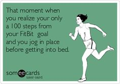 Hilarious Fitbit Memes - Share These With Your FitBit Friends! - Fitbit Memes for Fitbit Addicts & Fanatics……. Power Walking, Gym Humor, Workout Humor, Funny Workout Memes, Exercise Humor, Exercise Cardio, Daily Exercise, Diet Humor, Workout Routines