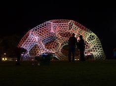 loop pH: SOL dome responsive solar-powered LED light pavilion - designboom | architecture & design magazine