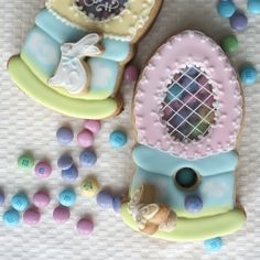 Montreal Confections: Easter candy dispenser cookie, with tiny cookie plug for the hole, lol