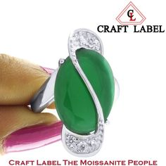 """4.5 Ct Oval Cut 14K Gold Green Emerald Solitaire Engagement Ring """"Mother\'s Day Gift"""". Starting at $1"""
