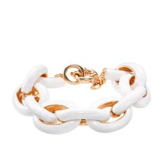 Classic enamel link bracelet. This makes me think of my bubbi...might need to purchase...