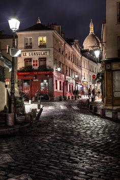 Le Consulat...a dark evening on the streets of Paris.  This is one of my favorites photos I have worked on thus far from the trip to France!