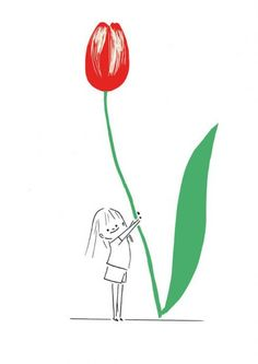 Sophie Bouxom Big Flowers, Illustrations, Whimsical, Folk, Cleaning, Classic, Dibujo, Popular, Illustration