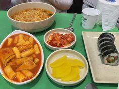 김밥 떡볶이 해장라면