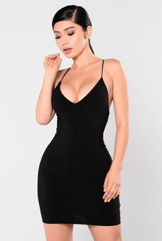 Club View Mini Dress - Black