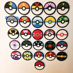 Perler Pokeball set by SoultwinSprites on Etsy