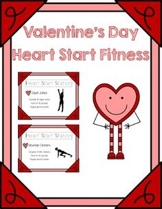 Looking for a fun and festive way to celebrate valentines day in PE? Look no further than these fitness task cards.  Check them out in my store!