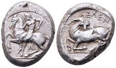 AR Stater. Greek, Cilicia, Kelenderis. Circa 430-420 BC. 21mm, 10,64g, 10h. SNG von Aulock 5626. Good VF. Price realized (2.7.2016): 334 EUR.