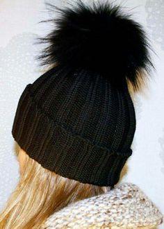 Fur Pom Pom CC Beanie Hats  9e5ad75e412