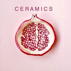 Table cover C E R A M I C S by # H E L L O creativity #fruityceramic #pomegranate #design #pink #fancy