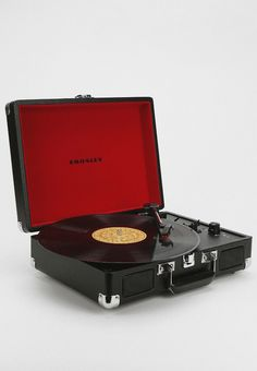 Crosley Cruiser Briefcase Portable Record Player in Turquoise -- Cheapest from Target ($79.99)