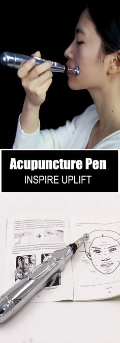Laser Acupuncture Pen - ★★★★★ This pen is a painless, acupuncture-type stimulation which uses an electric pulse to activate tissues, firm sagging and aging skin, promote healthy blood circulation, detox the meridians and help to reduce muscle pain! Natural Health Remedies, Facial Treatment, Tips Belleza, Belleza Natural, Alternative Medicine, Natural Healing, Whitening, Health And Beauty, Health Tips