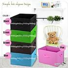 Bright Color Foldable Organizing Storage Box for Clothes Books Accessory