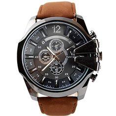 Uhren Herrenuhren Armbanduhren Wanduhren Luxusuhren Automatikuhren Digitaluhr Weiß Zifferblatt Archaistisch Leuchtende Hand Verbesserte für Männer mit Verschiedene Farben (Braun) - http://on-line-kaufen.de/unbekannt/braun-uhren-herrenuhren-armbanduhren-wanduhren