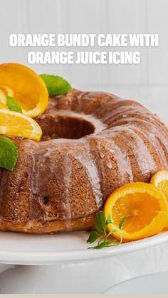 Baking Recipes, Cake Recipes, Dessert Recipes, Fun Desserts, Awesome Desserts, Orange Bundt Cake, Cheesecakes, Cooking Cake, Monkey Bread
