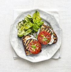 Grilled Eggplant and Smoked Mozzarella Melts | RealSimple.com