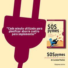 ¿Sabias que cada minutos utilizado para planificar ahorra CUATRO MINUTOS para implementar? Luciana Paulise, en su libro SOS PYMES nos cuenta eso y mucho más.