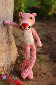 Amigurumi Pink Panther Pink Panthers, Stuffed Toys, Needlepoint, Crocheting, Macrame, Knit Crochet, Teddy Bear, Sewing, Knitting