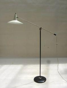 J.J.M. Hoogervorst floor lamp, 1950s. Anvia - Holland.