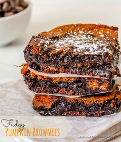 Fudgy Pumpkin Browni