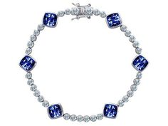 Original Star K(tm) Classic Cushion Cut 7mm Created Sapphire Tennis Bracelet in .925 Sterling Silver Star K. $99.99. Star K. Designs are exclusive and protected by Copyright Laws. Free High End Jewerly Box and Gift Packaging. Certificate of Authenticity Included with this item. Free Lifetime Warranty exclusively offered by Finejewelers. Guaranteed Authentic from the Star K designer line. Save 71%!