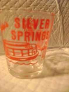 *******-SOUVENIR SHOT GLASS-FLORIDA'S SILVER SPRINGS-********