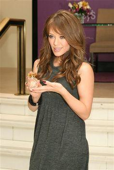 like her dress. a grey sack dress is definitely something i wear..seriously