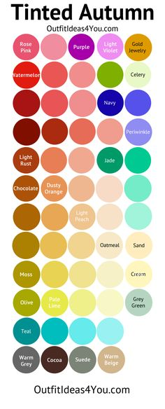 Tinted Autumn Color Palette (Soft Autumn Light)