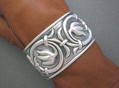 Cuff | Bernice Godspeed.  Sterling silver.  ca. 1950s, Mexico
