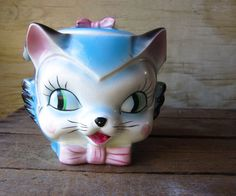Vintage Cookie Cat Jar печенье архива по WhatsNewOnTheMantel на Etsy