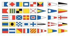 Je me dit qu'on pourrait s'inspirer des drapeaux maritimes pour le logo -quelque chose de tres simple, très graphique..