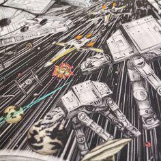 Emma J Shipley x Star Wars scarf artwork ⭐️ Star Wars fashion ⭐️ Geek Fashion ⭐️ Star Wars Style ⭐️ Geek Chic ⭐️