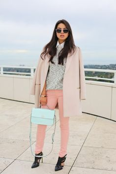 STREET STYLE: Winter Pastels! Δείτε 40 Υπέροχα Outfits