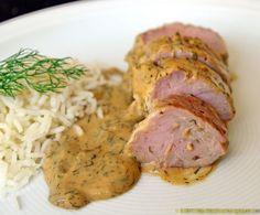 Schweinefilet in Honig-Dill-Sauce