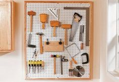 Create a Pegboard Wall | 13 DIY Garage Storage Ideas to Spruce Up Your Space