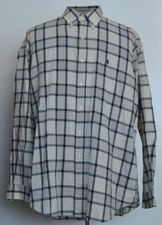 Ralph Lauren Polo Shirt XL Mens Long Sleeve Multi-Color Plaid Cotton Button-Down #RalphLaurenPolo free shipping Buy Now  $21.77