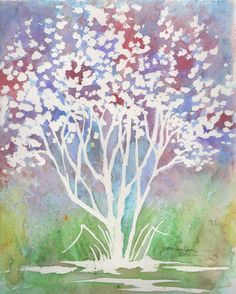 Art inspiration: Watercolor painting by Joni Walker. I have to get my paints out.