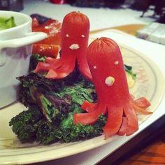 #food #kawaii #hotdog #squids