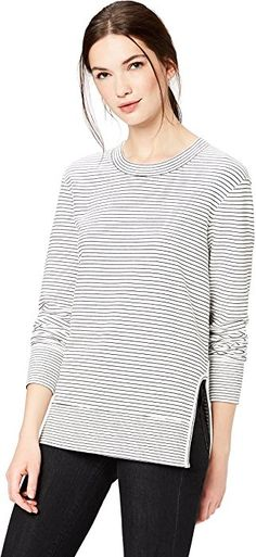 9d8b3fd3849e9 Amazon.com  Daily Ritual Women s Terry Cotton and Modal Pullover with Side  Cutouts